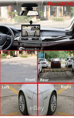 12V 7 HD Quad Image Car Dash LCD Monitor Kit +Front/Left/Right Rear View Camera