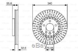2x BOSCH Bremsscheibe 0 986 479 546 für TRANSPORTER VW MULTIVAN T6 T5 340 340mm