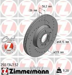 2x Bremsscheibe Zimmermann 250.1347.52 2 Bremsscheiben Vorderachse Vorne