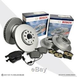 BOSCH Bremsscheiben + Beläge Vorne + Hinten Ford Seat VW