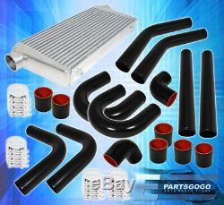 Bar & Plate Front Mount Intercooler Fmic +75mm Aluminum Pipe Piping Kit Unit Set