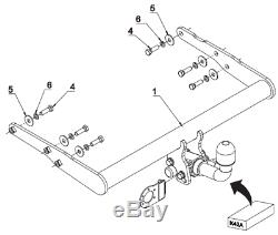 Detachable Towbar with Electric Kit 7Pin for VW TRANSPORTER CARAVELLE 15- T6 VAN