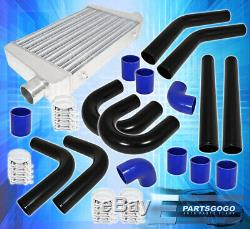 Fimc Turbo Intercooler+3Ply Silicone Coupler Hose+2.5 Piping Kit+T-Bolt Clamp