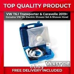 Fits Vw T6.1 Transporter & Caravelle Genuine Vw 12v Electric Shower Kit Portable
