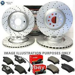 For Vw Transporter Caravelle T5 Front Rear Drilled Brake Discs Mintex Pads Kit