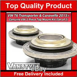 Genuine Oe Vw T6 Transporter & Caravelle Suspension Strut Top Mounts Bearing Kit