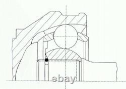 Joint Kit Drive Shaft For Vw Multivan VI Sgf Sgm Sgn Cxga Cxhb Cxgb Caab Lbro