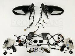 Orig. VW T6 Außenspiegel Komplett Schloss Motor Kabel Set L+R Schwarz Matt L9B9