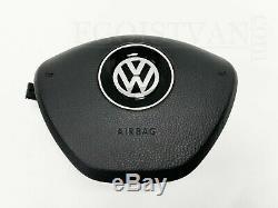 Original VW T6 Lederlenkrad Multifunktion MFL Airbag Schwarz Leder 7E0419091M