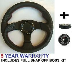 Perfomance Steering Wheel And Snap Off Boss Kit Fit Vw T2 T25 T3 T4 Transporter