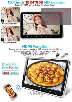 Portable 10.1 Ultra Thin Car Headrest Multimedia DVD Player Remote Control Kit