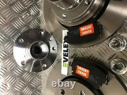 Rear Brake Discs & Pads + Wheel Bearing Kit Fits Vw Caravelle & Transporter T5
