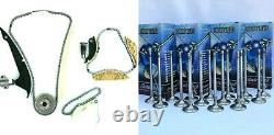 Set 16 Valves & Timing Chain Kit Fit To Audi Fsi /tfsi