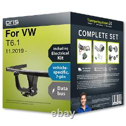 Towbar fixed for VW T6.1 11.2019- + 7pin specific electrical-kit NEW CAR FP