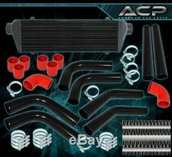 Turbo Intercooler+3Ply Silicone Coupler Hose+Piping Kit+Stainless Steel Clamps