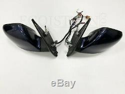 VW T5 GP elektr. Außenspiegel Komplett Schloss Motor Kabel Set L+R Blau LH5X