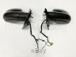 VW T5 GP elektr. Außenspiegel Komplett Schloss Motor Kabel Set L+R Schwarz LC9X