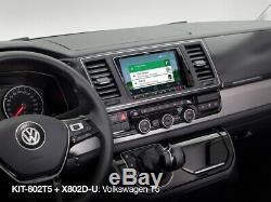 Volkswagen T5.1 8 Facia & Steering Wheel Installation Kit For Alpine X802D-U