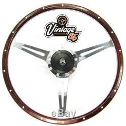 Vw Splitscreen Camper Van T2 17 Dark Wood Alloy Rim Steering Wheel Upgrade Kit