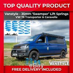 Vw T5 T5.1 Transporter Caravelle 2003-15 Vanstyle Lift +35mm Springs Kit Swamper