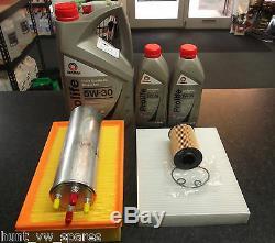Vw T5 Transporter Caravelle 2.0 Tdi Service Kit Oil Fuel Air Cabin Filter Oil 7l