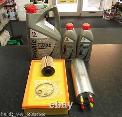 Vw T5 Transporter Caravelle 2.0 Tdi Service Kit Oil Fuel Air Filter Comma Oil 7l