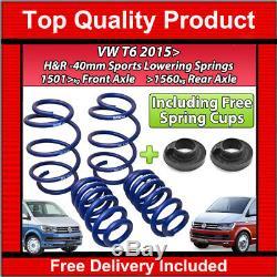 Vw T6 Transporter Caravelle 2015 H&r Lowering Sports Springs 40mm Kit 29270-3