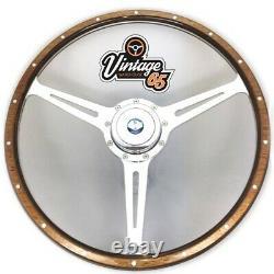 Vw Transporter T2 1974 79 Polished Alloy Steering Wheel Boss Kit & Horn Upgrade
