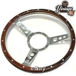 Vw Transporter T4 Polished Alloy Steering Wheel Boss Fitting Kit & Horn Upgrade
