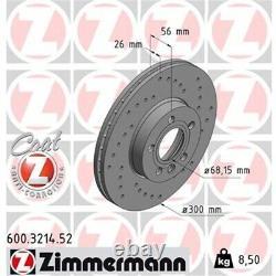 ZIMMERMANN SPORT Bremsscheiben + beläge VW T4 16 Zoll vorne