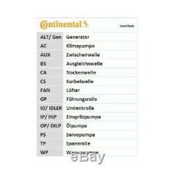 Zahnriemensatz CONTINENTAL CTAM CT1139K2 für AUDI SEAT SKODA VW