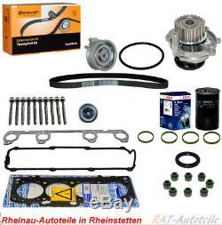 Zylinderkopfdichtungsatz+Zahnriemen CONTI CT908K1+WAPU+Ölfilter AUDI SKODA VW